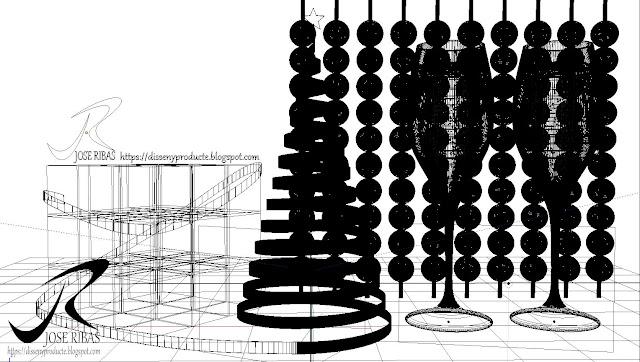 Renderización : Imagen Publicitaria Navidad Modelado 3D