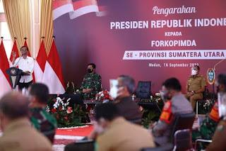 Presiden Jokowi Berikan Pengarahan Kepada Para Kepala Daerah dan Forkopimda di Sumut