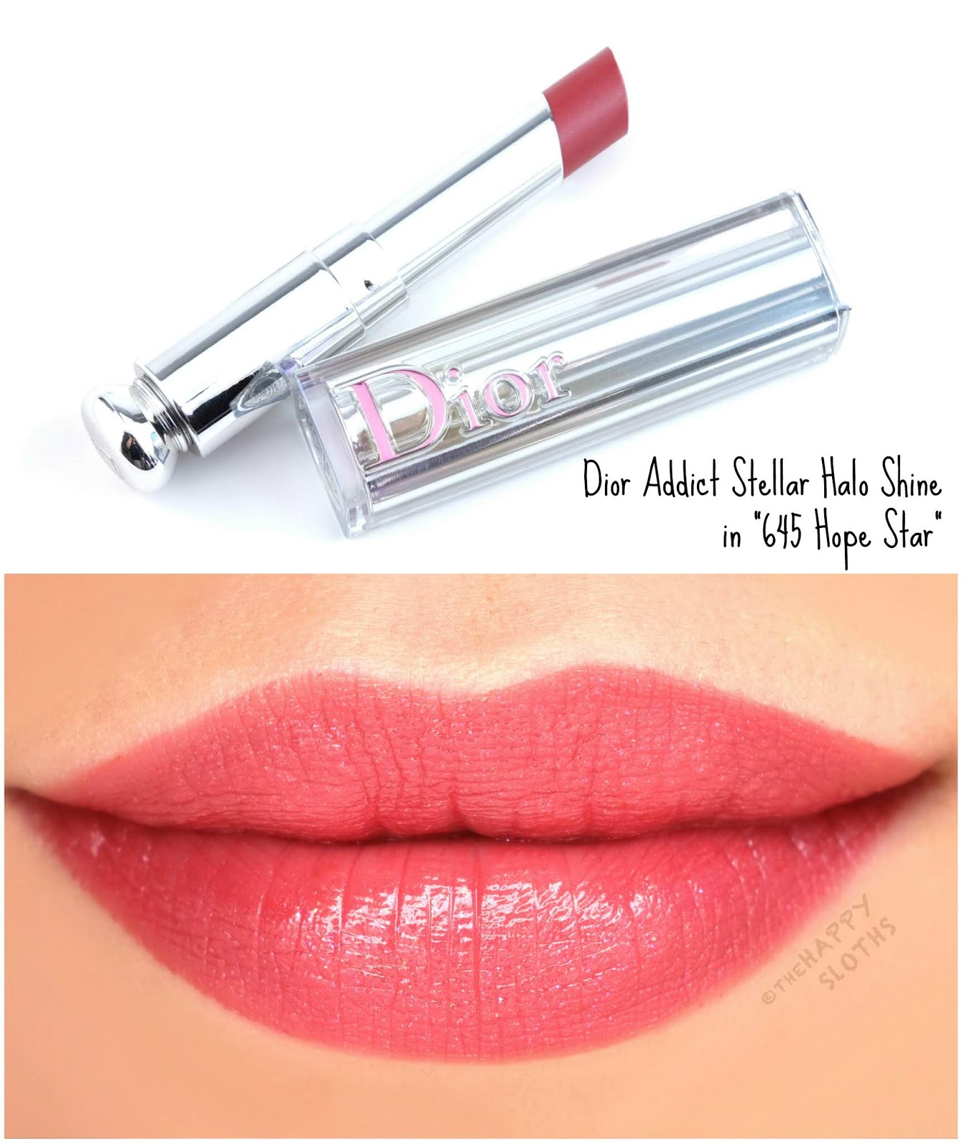 "Dior | Dior Addict Stellar Halo Shine Lipstick in ""645 Hope Star"": Review and Swatches"