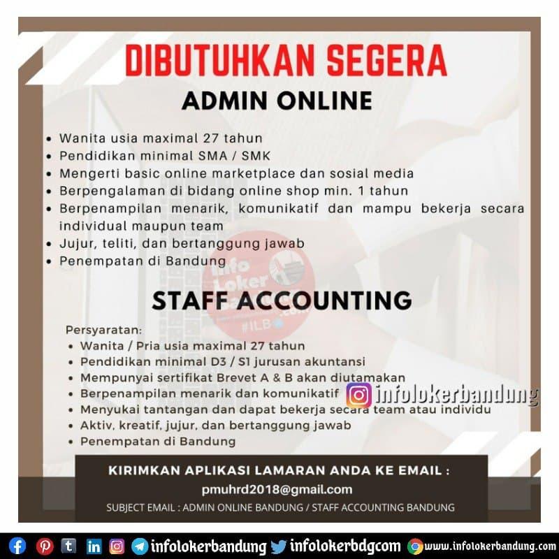 Lowongan Kerja PT.Putra Martha Utama  Bandung Mei 2021
