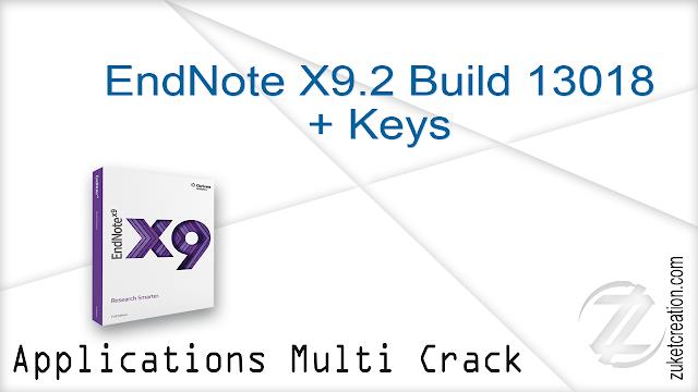 EndNote X9.2 Build 13018 + Keys   |  100 MB