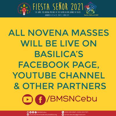Sinulog 2021 Facebook and Youtube LIVE Novena Masses