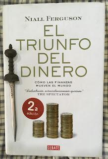 Portada del libro El triunfo del dinero, de Niall Ferguson