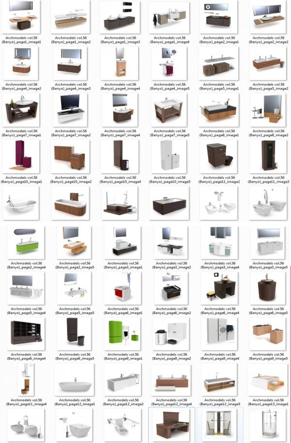3D Model Free: Sketchup 3D Free model collection-Volumen 9 vanitorys