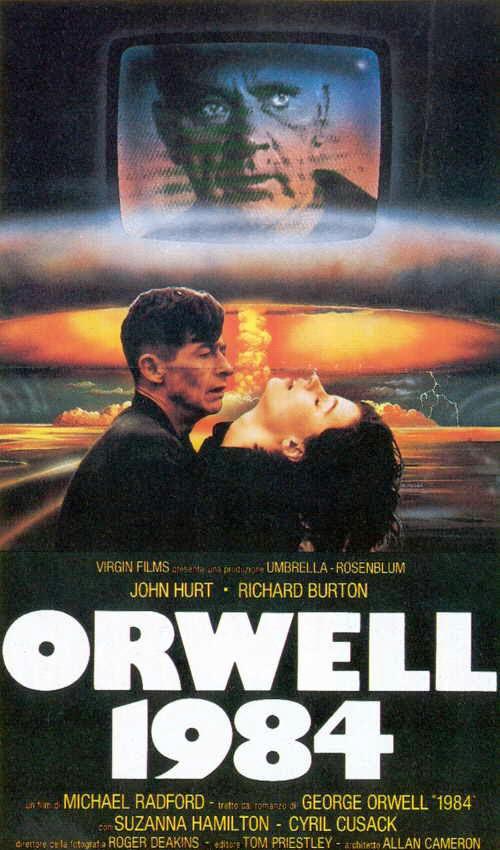 """La locandina del film """"1984"""" che nelle sale britanniche esce proprio nel 1984. foto: stroboscopio.com"""