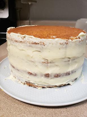 how to buttercream cake