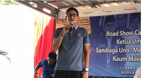Sandiaga Minta Bupati Subang Tak Ikut-ikutan Kampanye Pilpres 2019