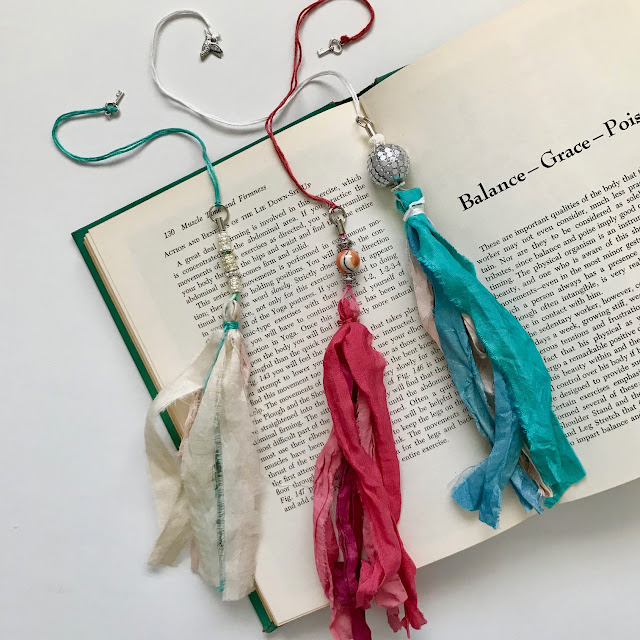 handmade bookmarks with sari silk