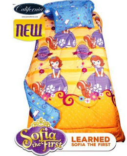 Sprei california single motif Sofia learned