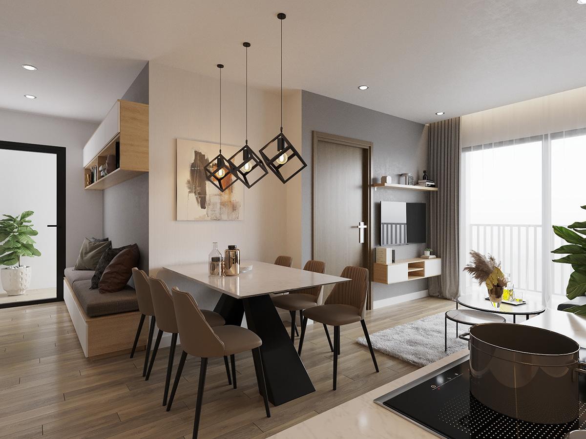 Báo giá thiết kế & thi công nội thất căn hộ Vinhomes Ocean Park Gia Lâm