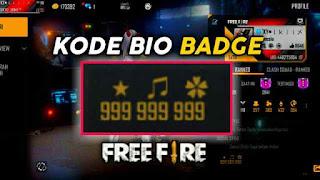 Kode Bio Badge FF