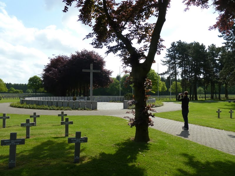 Memorial circle at the center of the war cemetery Ysselsteyn