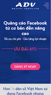 Landing Page Blogspot Dịch vụ Facebook