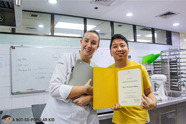 Renz Cheng with Chef Letie, Enderun Extension