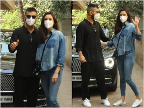 New Parents Anushka and Virat 1st Public Appearance Since Birth Of Daughter