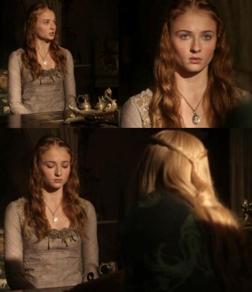 Sansa robe lila interrogatoire