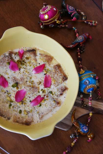 Shahi Tukda or Bread Ras Malai