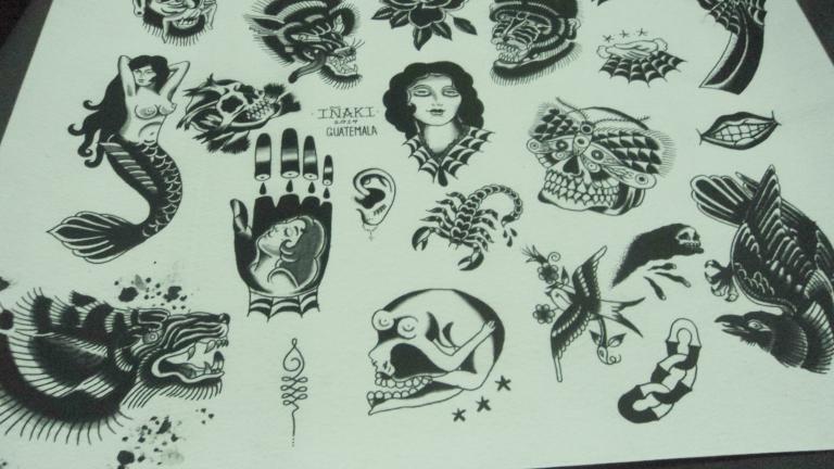 Tatuajes clásicos en blanco y negro