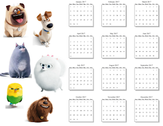 2017 yearly calendar to print