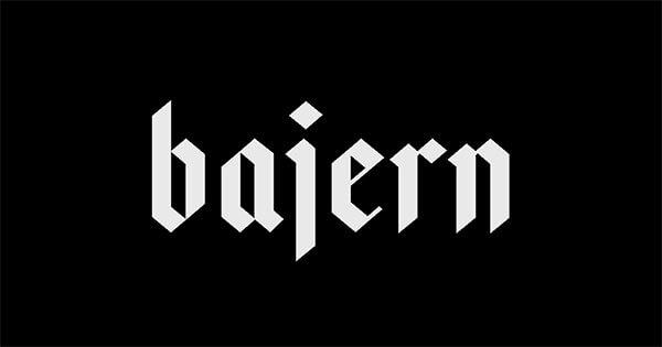 Font Modern Blackletter Grafis - Bajern Free Typeface
