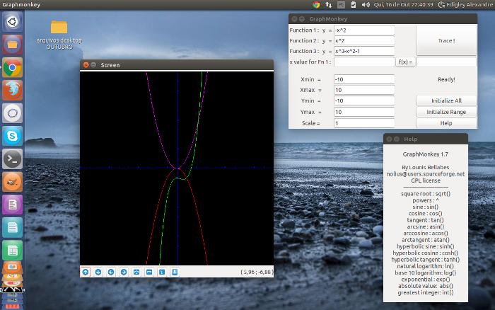 GraphMonkey: calculadora gráfica para o Ubuntu