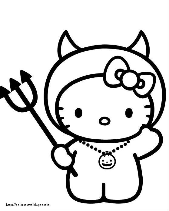 Hello Kitty Disegno Da Colorare N.22