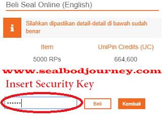 Menambah RPs menggunakan Unipin Seal BoD 7