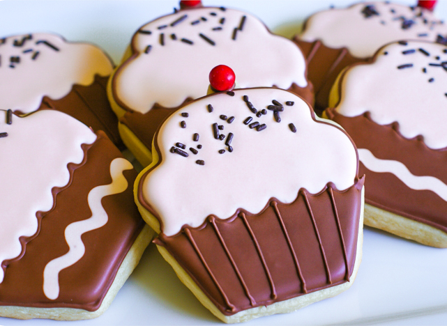 how to decorate simple cupcake cookies
