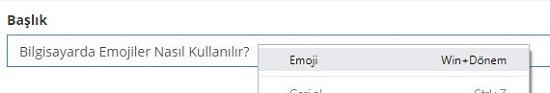 Chrome Son Sürümde Emoji Kullanma