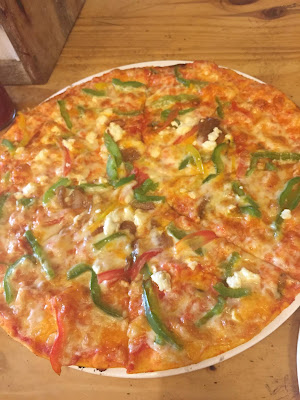 Greek Chargrilled Pizza by Cafeteria & Co, Hudson Lane, Gtb Nagar, Delhi
