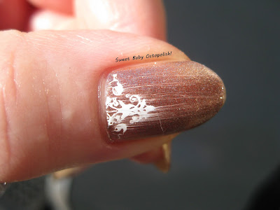 Pro-FX quick dry topcoat when used over stamping nail art