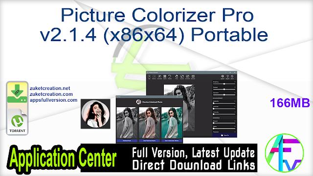 Picture Colorizer Pro v2.1.4 (x86x64) Portable