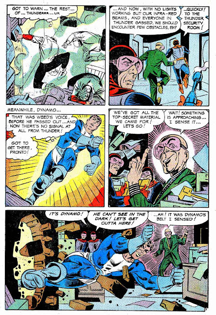 Thunder Agents v1 #18 tower silver age 1960s comic book page art by Steve Ditko
