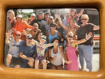One of the many Couper family reunions.This one was houseboating on the Mississippi River