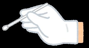 いろいろな綿棒を持つ手のイラスト2