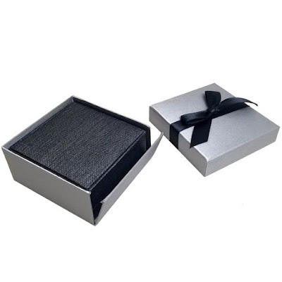 Shop Wholesale Elegant Steel Gray Bowtie Earring Boxes at NileCorp.com
