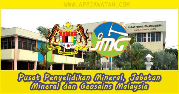 Jawatan Kosong di Pusat Penyelidikan Mineral, Jabatan Mineral dan Geosains Malaysia - 28 Oktober 2018