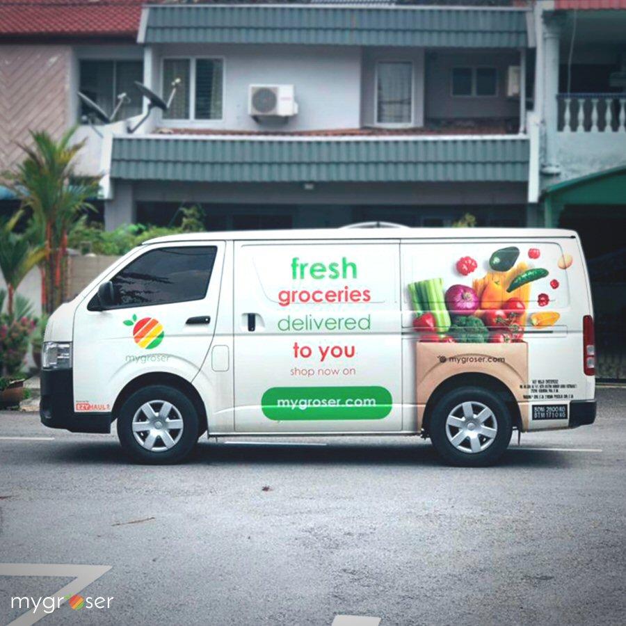 MyGroser delivery van