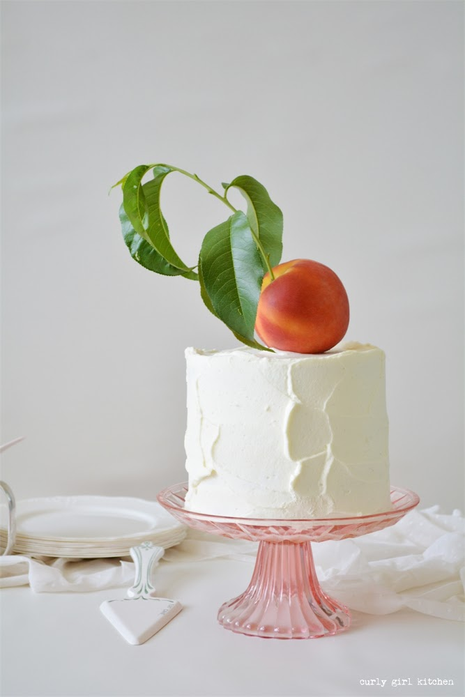 Peaches and Cream Cake, Peach Cake, White Velvet Cake, Buttermilk Birthday Cake, Cake Decorating Ideas
