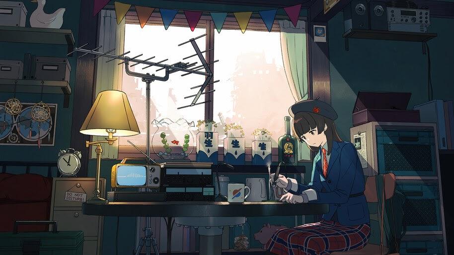 Anime, Girl, Working, 4K, #6.2591