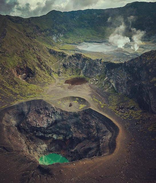 Enjoying the Blue Crater View from the Top of Bukit Kaba Bengkulu