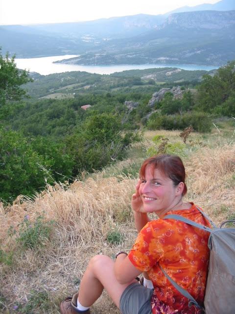 Wandern am Lac de Sainte-Croix, Provence