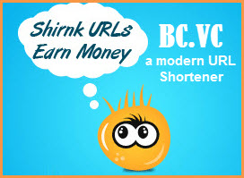 كيفية الحصول على أموال عن طريق إختصار روابط من العملاق bc.vc
