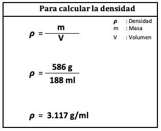 calculo de la densidad