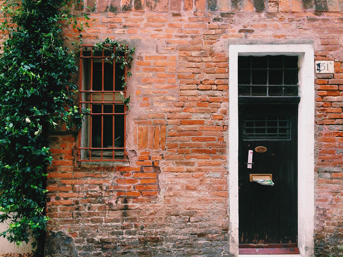 house wall in ferrara