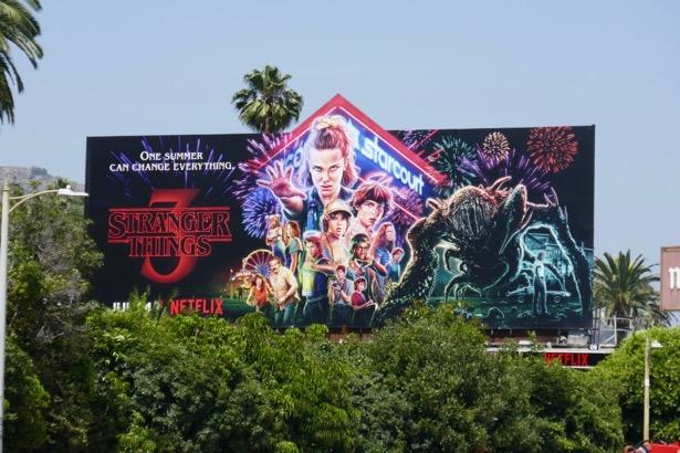 Stranger Things 3 billboard