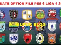 Update Option File PES 6 Liga 1 Shopee Terbaru 2020