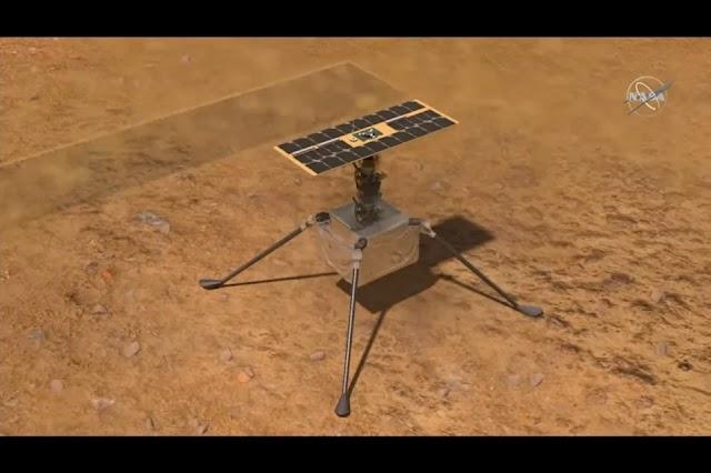 Helicóptero da Nasa faz primeiro voo em Marte