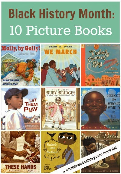Picture book list for Black History Month theme for homeschool preschool
