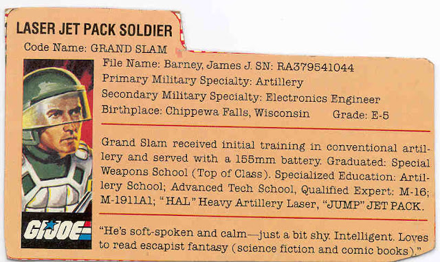 1984 Silver Pads Grand Slam, JUMP Jet Pack, Filecard